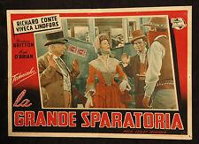 fotobusta cinema LA GRANDE SPARATORIA conte, lindfors, britton; SELANDER