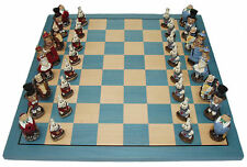 Alice in Wonderland Chess Set {New & Sealed Great Colorful Details}