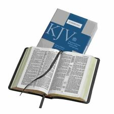 KJV Bible, Cameo Reference Edition with Apocrypha, Black Calfsplit Leather