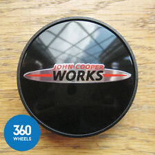 1 x NEW GENUINE ORIGINAL MINI JCW WHEEL CENTRE CAP HUB BADGE COOPER S WORKS
