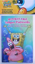 Party Favors SPONGEBOB Activity Pads Birthday Loot Bag Filler 4 Pack
