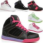 GIRLS ANKLE BOOTS KIDS HIGH HI TOPS TRAINERS BASKETBALL DANCE SCHOOL SHOES SIZE