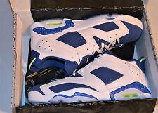 NEW NIKE AIR JORDAN 6 VI RETRO LOW  MEN'S SZ 12 SEAHAWKS SHOES INSIGNIA BLUE