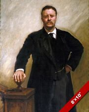 THEODORE TEDDY ROOSEVELT US PRESIDENT OIL PAINTING ART PRINT ON REAL CANVAS