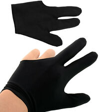 Hot New Elastic 3 Fingers Glove for Billiard Pool Snooker Table Cue Shooter