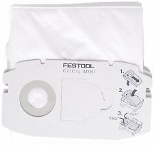 5 x FESTOOL SC FIS-CT MINI/5 Dust Filter Bag For CTL MINI  Extractors - 498410