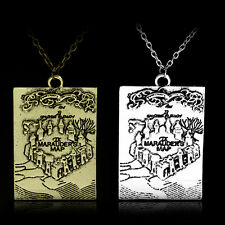 Harry Potter The Marauders Map I solemnly swear that I am up to no good Necklace