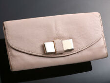 G0678 Authentic CHLOE LILY Genuine Leather Long Wallet