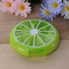 7-Day Rotating Pill Case Fruit Style Pill Portable Organizer Medicine Container