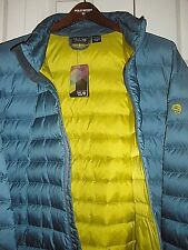 NWT Men's Mountain Hard Wear Micratio Down Jacket Puffer Size-XL Sea Foam Blue.