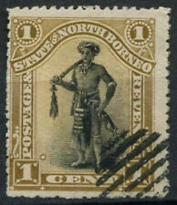 North Borneo 1894 SG#66, 1c Dyak Chief P14.5-15 Cto Used #D10193