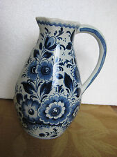 Holland Delft Pitcher #158 Hand Painted Blue/White