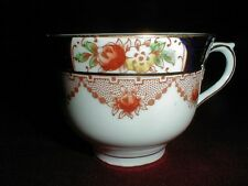 Colclough England Bone China #6621 Rust & Cobalt Teacup/Cup