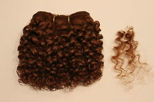 Human Hair Rooting Reborn Babies Toddlers Golden Auburn Curly Curls NOT Mohair