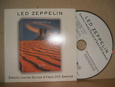 LED ZEPPELIN - 3-Track DVD Sampler - Strictly Ltd Ed PR 03945