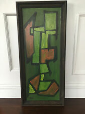 Vintage Mid Century Modern Abstract Original Painting