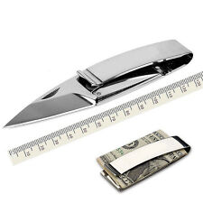 EDC Outdoor Survival Tool Camping Folding Pocket Rescue Money Clip Knife SS