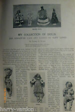 Rare Victorian Antique Doll Dolls Making Maker Collection Old Photo Article1899