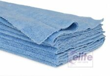 Elite Zero Edge Blue Edgeless Microfibre Buffing & Detailing Cloths - Pack of 10