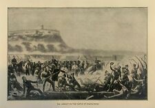 1902 ~ RARE ENGRAVING ~ The Assault on the Castle of Chapultepec