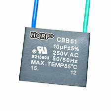 Capacitor for Hampton Bay Ceiling Fan 10uf 2-Wire CBB61 Replacement