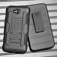 Rugged Armor Clip Holster Hybrid Case Hard Cover For LG G Pro Lite D686 D680