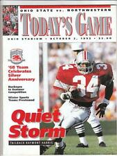 NORTHWESTERN WILDCATS @ OSU OHIO STATE BUCKEYES Football Program 1993 NR MT