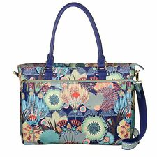 Oilily Spiro Flower Office Bag Aktentasche Lagoon