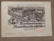 WERBE/ANSICHTSKARTE MARKTHEIDENFELD MARTINSBRÄU