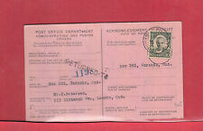 Scarce RETURNED TO AR card with 10c Cartier Canada 1932