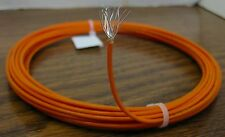 25 feet 16 AWG Silver Plated PTFE Wire Orange Stranded