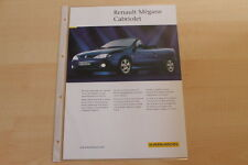 74415) Karmann Renault Megane Cabrio Prospekt 09/1999