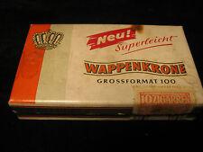 """Alte Zigarren-Schachtel """"Wappenkrone"""" superleicht - 10 Zigarillos Dose"""
