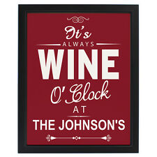 PERSONALISED NOVELTY WINE LOVERS GIFT PRINT - Friend Birthday Christmas Present