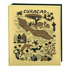 CURACAO MAP EMBOSSED PHOTO ALBUM 100 PHOTOS/ 4x6
