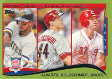 "2014  TOPPS    ""GREEN BORDER""    #38  ""NL""  2013 HOME RUN LEADERS"