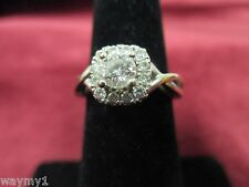 Vera Wang 14K White Gold Engagement Ring Halo Round Brilliant Cut 1/2 Karat