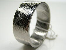 Sz13 GIBEON IRON NICKEL METEORITE 10mm WIDE BAND RING