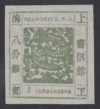 SHANGHAI, 1865. Local Post Scott 3, 8ca Mint