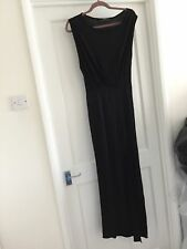 Gorgeous All Saints Black Jersey Side Split Muse Maxi Dress UK 6 Worn Twice