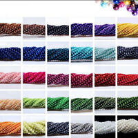 Wholesale Colorful Round Pearl Spacer Loose Beads 3/mm4mm/6mm/8mm/10mm 100 Pcs