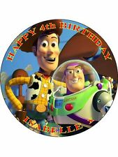 """PARTY PACK - TOY STORY - PERSONALIZED 7.5"""" CIRCLE ICING CAKE TOPPER"""