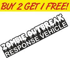 Zombie Outbreak LONG Vinyl Sticker Joke Fun Funny decal JDM Toolbox PC Laptop