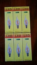 NEW 12 LED 4W Sapphire LED Filament 2700k Dimmable Candelabra Candle Light Bulbs
