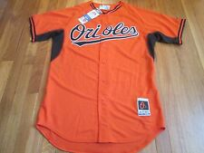 MAJESTIC MLB AUTHENTIC BALTIMORE ORIOLES ORANGE COOL BASE JERSEY 44