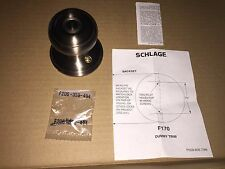 Schlage F170-GEO Antique Pewter Georgian Single Dummy Door Knob