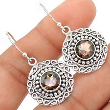Smoky Topaz 925 Sterling Silver Earrings Jewelry SE102491