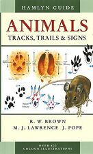 BROWN TRACKING BOOK HAMLYN GUIDE ANIMAL TRACKS TRAILS & SIGNS paperback BARGAIN