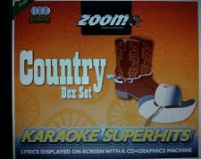 ZOOM KARAOKE CDG     COUNTRY SUPERHITS BOX SET     3  DISC 67 SONG BOX SET