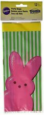 "Wilton party PEEPS Marshmallow candy bunny Easter 6x9"" 12 bags ties Just Born"